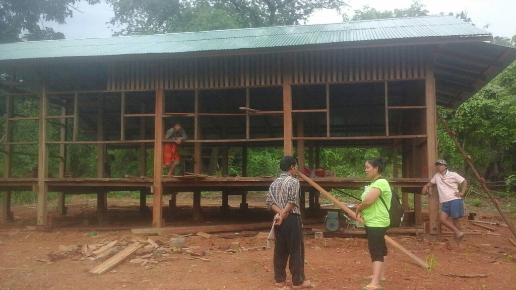 อาคารเรียนหลังใหม่ที่กำลังก่อสร้าง